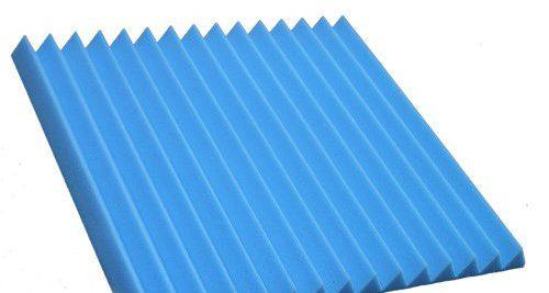 """ספוג אקוסטי 60*60 ס""""מ זיגזג בצבע כחול"""