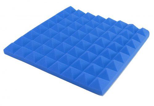 ספוג אקוסטי פרמידה צבע כחול 50x50x5
