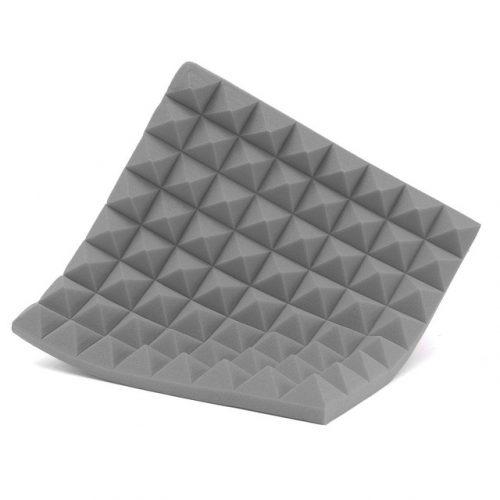 ספוג אקוסטי פרמידה צבע אפור בהיר 50x50x5