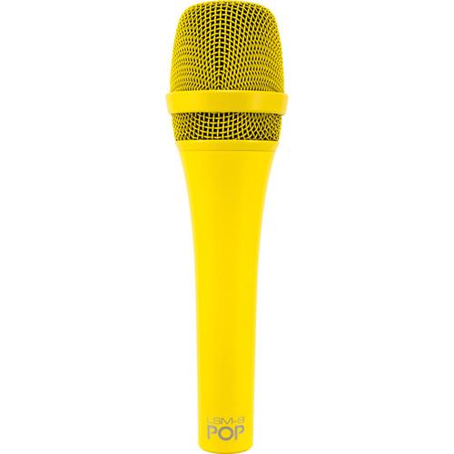 MXL POP LSM-9 מיקרופון פרימיום דינמי לשירה בצבע צהוב