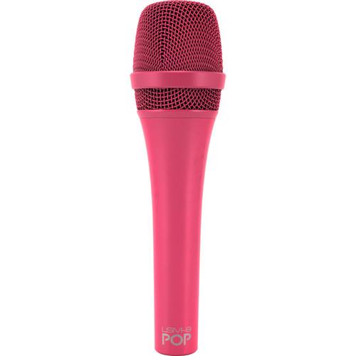 MXL POP LSM-9 מיקרופון פרימיום דינמי לשירה בצבע וורוד