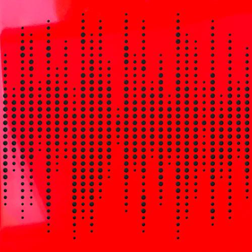 סט 8 יחידות לוח אקוסטי Artnovion Athos W צבע Rouge