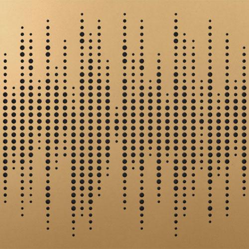 סט 8 יחידות לוח אקוסטי Artnovion Athos W צבע Classic Gold