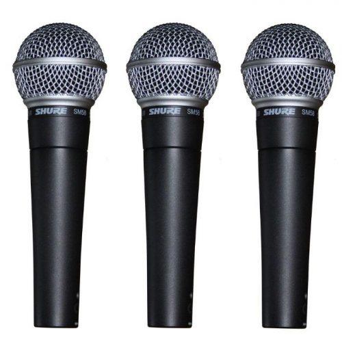 שליישית מיקרופונים Shure SM58 Pack