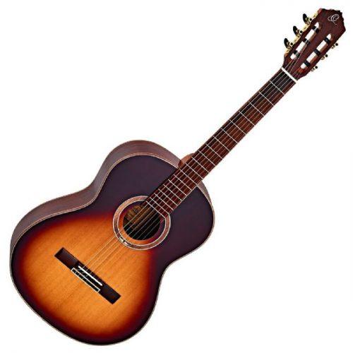 גיטרה קלאסית בצבע Honey Burst מבית Ortega R158SN-HSB