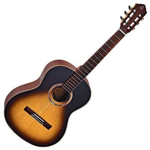 גיטרה קלאסית בצבע Tobacco Sunburst מבית Ortega R158SN-TSB