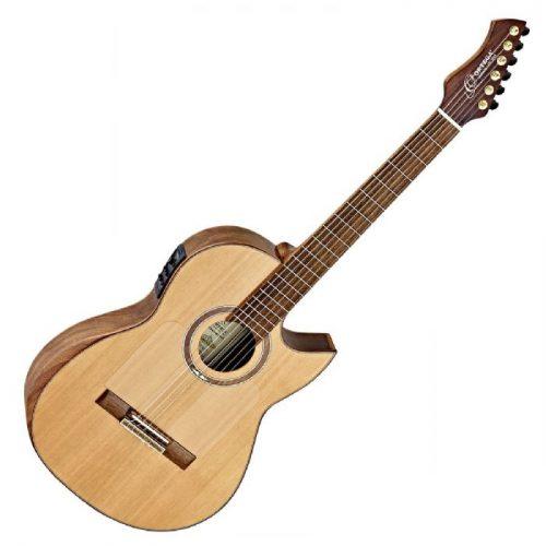גיטרה קלאסית מוגברת Ortega FLAMETAL-TWO