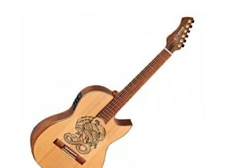 גיטרה קלאסית מוגברת Ortega FLAMETAL-ONE