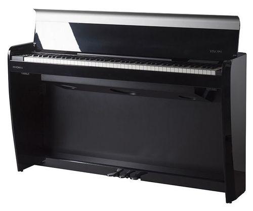 פסנתר חשמלי רהיט בצבע שחור בגימור מבריק Dexibell VIVOH7BKP