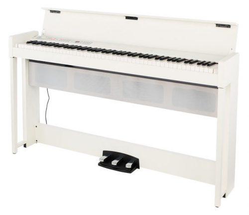 פסנתר חשמלי רהיט בצבע לבן 88 קלידים Korg C1 AIR
