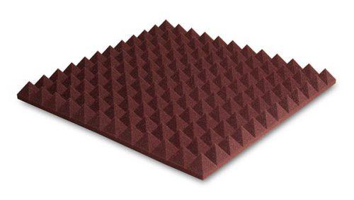 ספוג אקוסטי אדום פירמידות EZ Foam Pyramidal 5 מבית EZ Acoustics