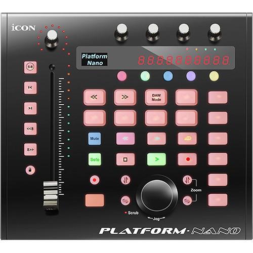 משטח שליטה קומפקטי עם פיידר ממונע iCON Pro Audio Platform Nano