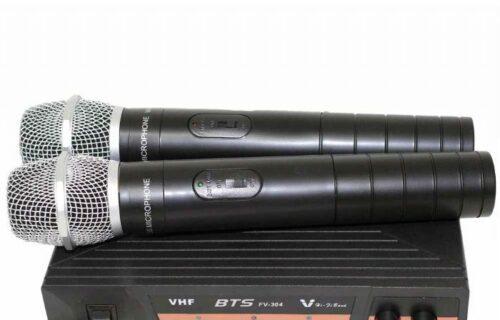 זוג מיקרופונים אלחוטיים BTS FV-304
