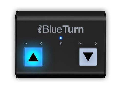 פדל בלוטות׳ iRig BlueTurn להעברת דפי תווים ושקופיות מבית IK Multimedia