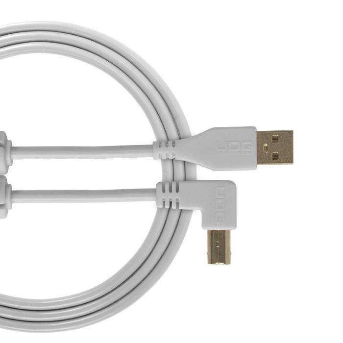 UDG Ultimate Audio Cable USB 2.0 A-B White Angle 1M