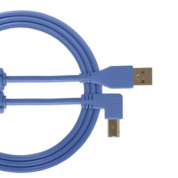 UDG Ultimate Audio Cable USB 2.0 A-B Light Blue Angled 2M
