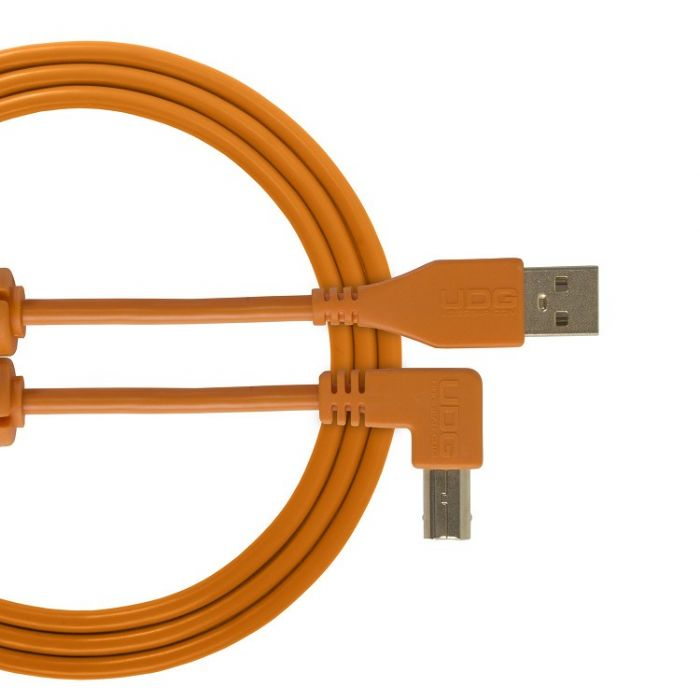 UDG Ultimate Audio Cable USB 2.0 A-B Orange Angled 3M