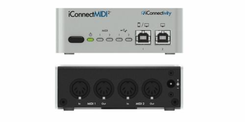 ממשק MIDI מקצועי +iConnectivity iConnectMIDI2
