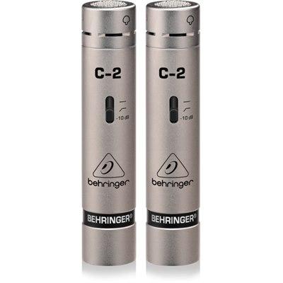 זוג מיקרופונים קונדנסורים מותאמים Behringer C-2
