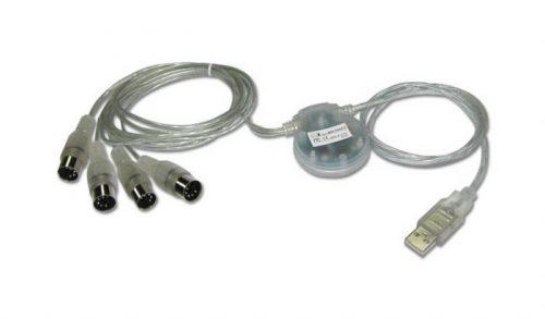 ממשק MIDI כפול בחיבור USB מבית iCON MIDIPORT 2