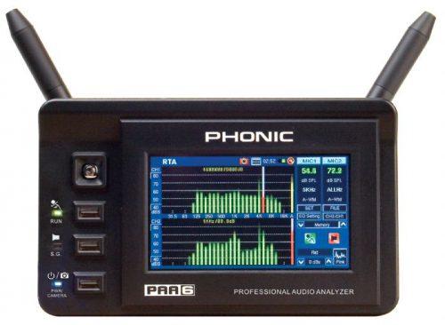 מכשיר מדידת אודיו משוכלל Phonic PAA6