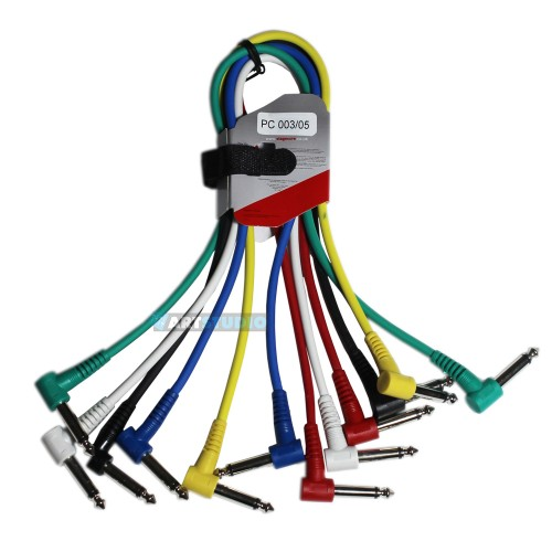 סט 6 כבלים PL מונו עם זווית 90 מעלות