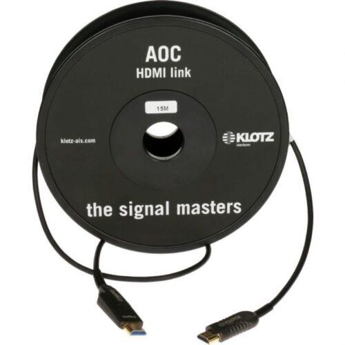 כבל HDMI 2.0 AOC A-A/D 18GHz אורך 30 מטר Klotz