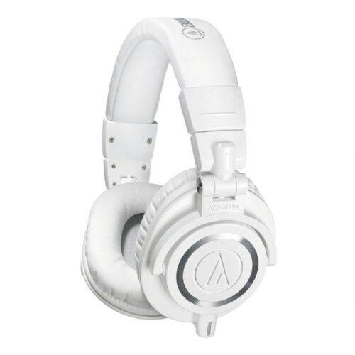 אוזניות בצבע לבן Audio Technica ATH-M50xWH