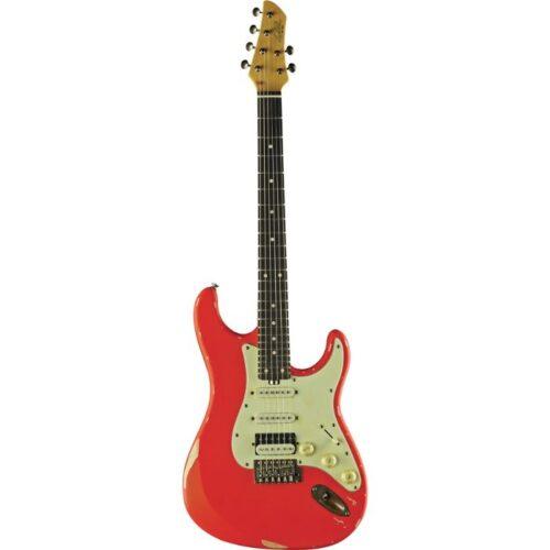 גיטרה חשמלית EKO S-300 Relic Fiesta Red