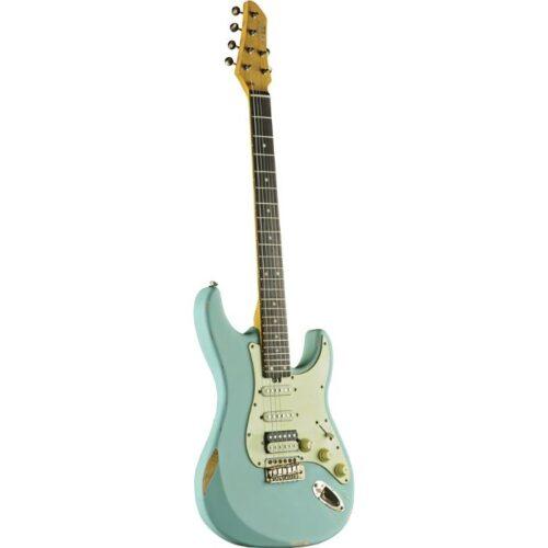 גיטרה חשמלית EKO S-300 Relic Daphne Blue