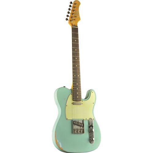 גיטרה חשמלית EKO VT-380 Relic Daphne Blue