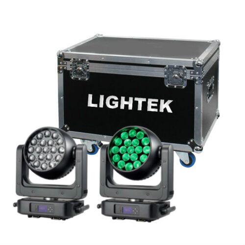 זוג פנסים חכמים LED Moving Wash 4in1 19x25W