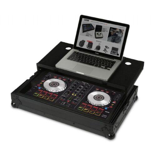 UDG Ultimate Flight Case Pioneer DDJ-SB2 – SB Black Plus – Laptop Shelf