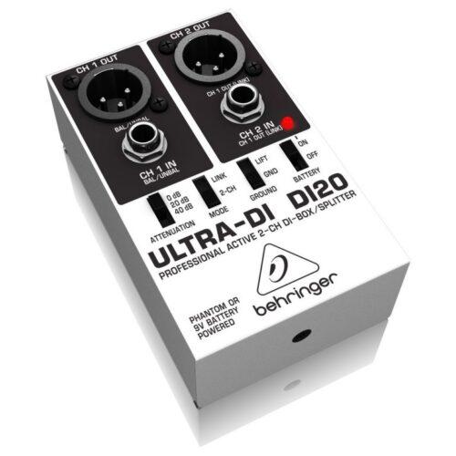 DI BOX סטריאו אקטיבית Behringer DI20